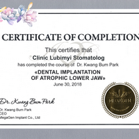 "Dr. Kwang  Bum Park ""Dental implantation of atrophic lower jaw"""